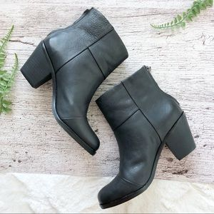 GRAY for Saks Fifth Avenue Sandy Leather Booties
